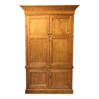 20th Century Americana Reclaimed English Pine Armoire For Sale