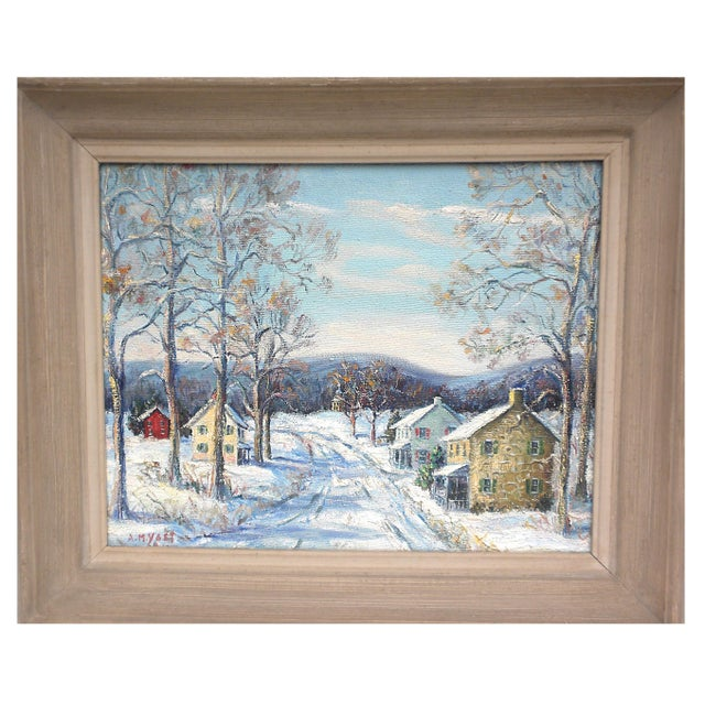 """""""Easton Highway in Pennsylvania"""" Rural Village Poconos Painting by Ann Yost For Sale In Pittsburgh - Image 6 of 6"""