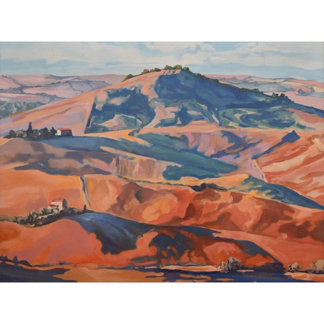 'Hill Country' Landscape Oil Painting by Arizona Contemporary Expressionist George Brinner For Sale