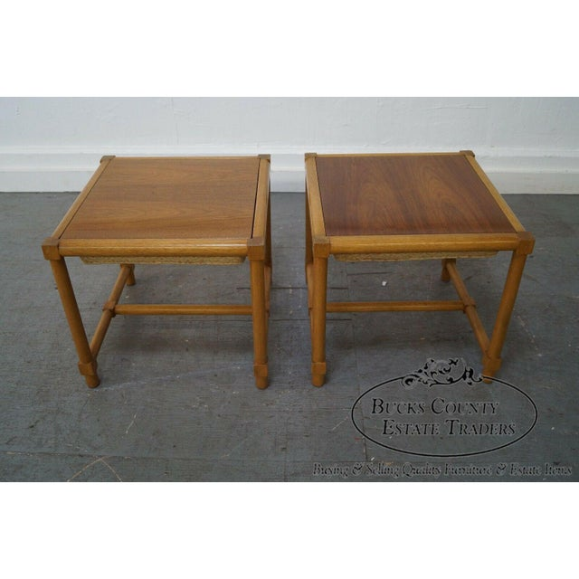 Tommi Parzinger Pair of Stools Reverse Top Low Tables For Sale In Philadelphia - Image 6 of 11