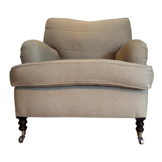 George Smith Linen/Down Arm Chair For Sale