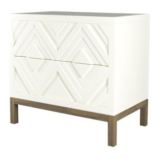 Susana Side Table - Simply White, Weathered Gray Oak For Sale