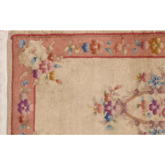 1930s 1930s Antique Art Deco Chinese Rug - 2′ × 3′10″ For Sale - Image 5 of 7