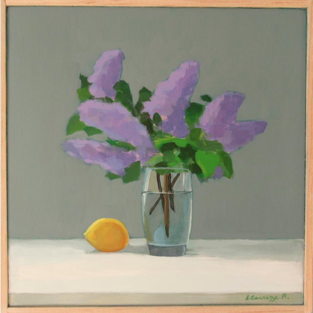 Lilac and Lemon by Anne Carrozza Remick For Sale