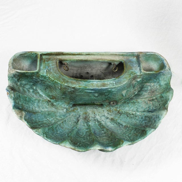 1940s Enameled Ceramic Wall Fountain, Les Fontaines de Provence, France For Sale - Image 11 of 13