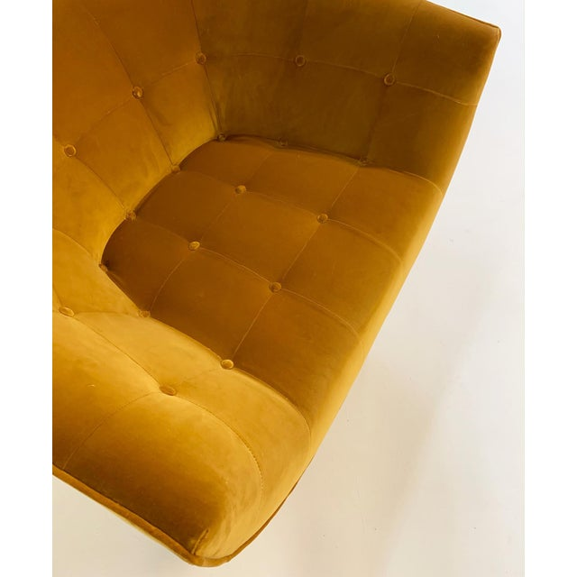 Mid-Century Modern Adrian Pearsall Swivel Lounge Chair in Loro Piana Velvet For Sale - Image 3 of 11