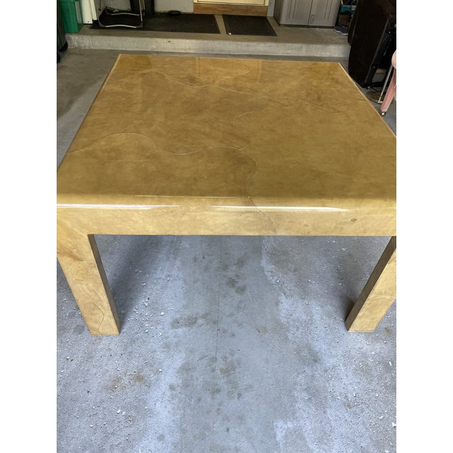 Steve Chase 1980s Goat Skin Dining Table For Sale - Image 4 of 9