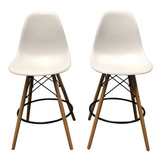 Mid-Century Modern Eames Style Counter Stools - a Pair