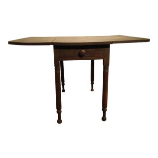 19th Century Original Surface Drop-Leaf Table with Drawer For Sale