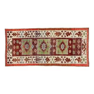 Vintage Turkish Oushak Anatolian Yuntdag Gallery Rug - 05'04 X 11'04 For Sale