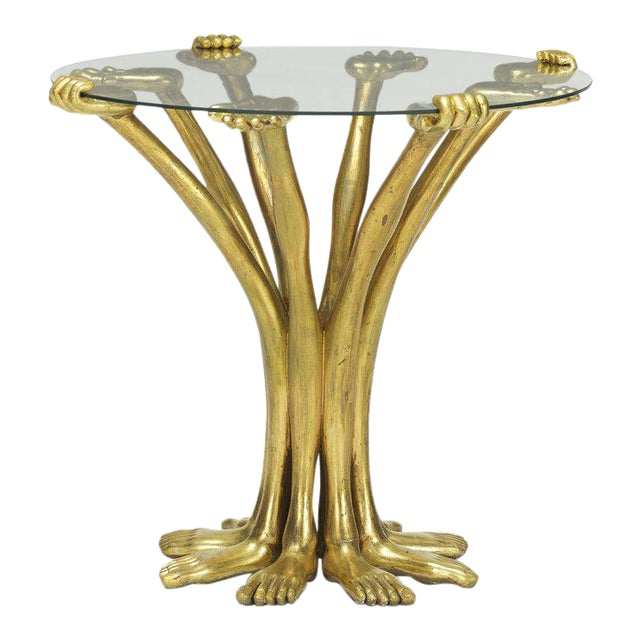 Pedro Friedeberg Hand-Foot Side Table For Sale