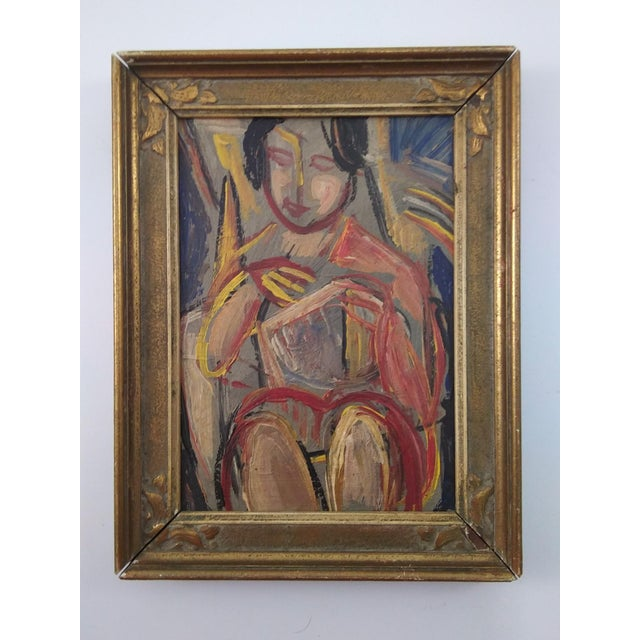 Vintage Mid-Century Nude Female Portrait Painting For Sale In Atlanta - Image 6 of 6