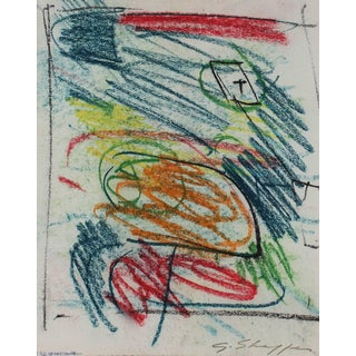Gary Lee Shaffer Abstract Expressionist Sketch in Pastel, 1962 1962 For Sale