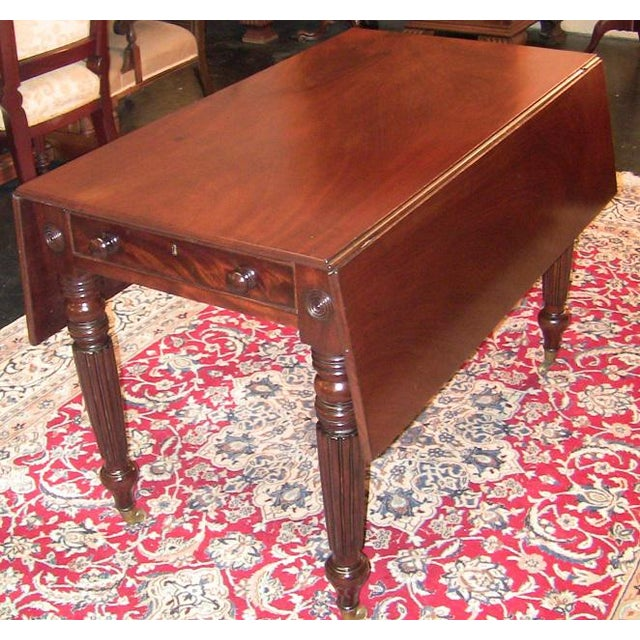 19c British William IV Mahogany Large Pembroke Table or Sofa Table For Sale - Image 9 of 9