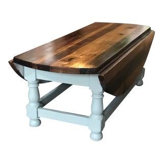 Ethan Allen Butcher Block Drop Leaf Coffee Table For Sale