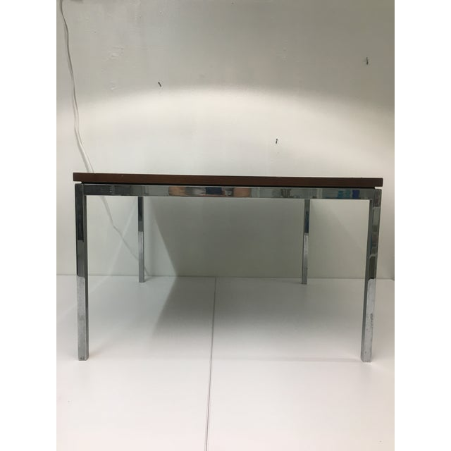 Herman Miller Vintage Mid-Century Modern Walnut Side or Coffee Table by Florence Knoll For Sale - Image 4 of 10