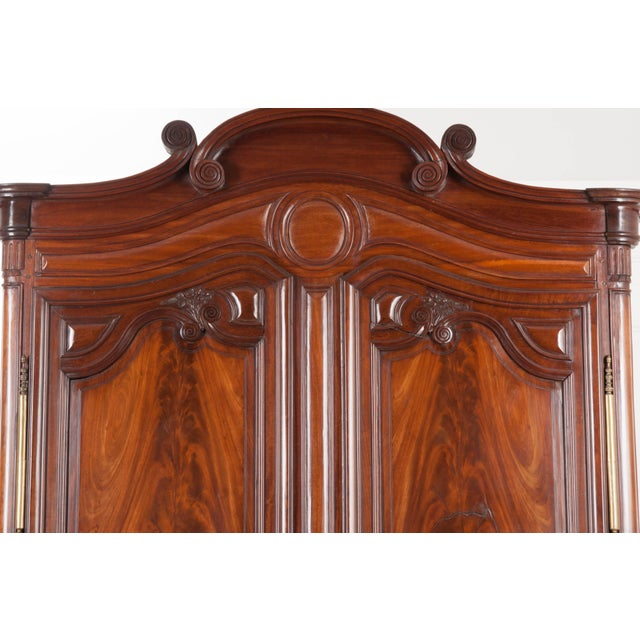 18th Century French Mahogany Armoire from the Port of Normandy For Sale - Image 11 of 13