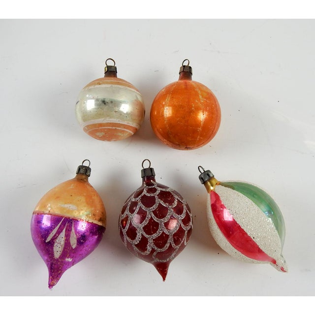 Group of Various Vintage Christmas Ornaments - Set of 5 - Image 2 of 3