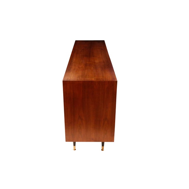 Mid-Century Modern 1970s Mid-Century Curated Danish Teak Credenza For Sale - Image 3 of 8