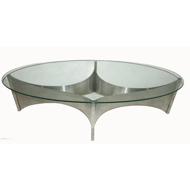 "Maison Charles ""Voiles"" Coffee Table For Sale"