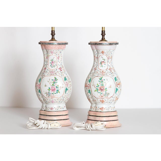 Pair of Late 18th Century Chinese Porcelain Vases as Lamps For Sale - Image 10 of 13