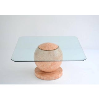 Postmodern Tessellated Stone Geometric Sphere Form Cocktail Table Preview