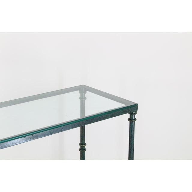 1980s Diego Giacometti Style Iron Console Table, Metal Console Table For Sale - Image 5 of 10
