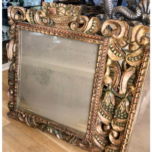 Hendrix Allardyce Venetian 18c Style Italian Giltwood Mirror - a Pair For Sale In Los Angeles - Image 6 of 7