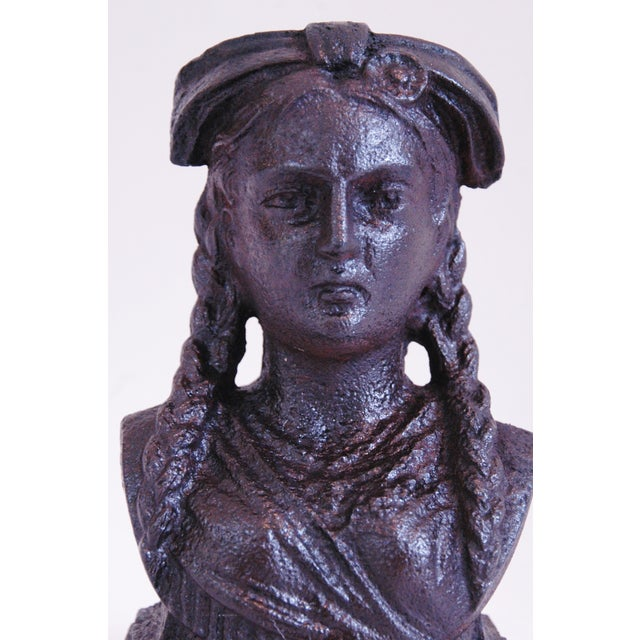 19th Century French Iron Lady Bust Fragment - Image 8 of 9