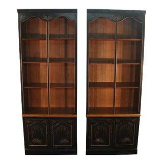 Ethan Allen Paint Decorated Bookshelves-A Pair For Sale