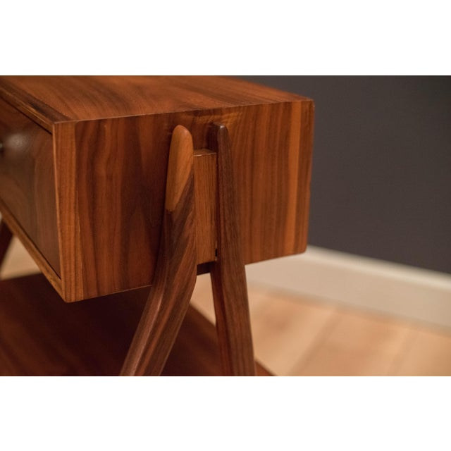 Mid 20th Century Mid Century Walnut Floating Nightstands by Drexel Declaration For Sale - Image 5 of 13