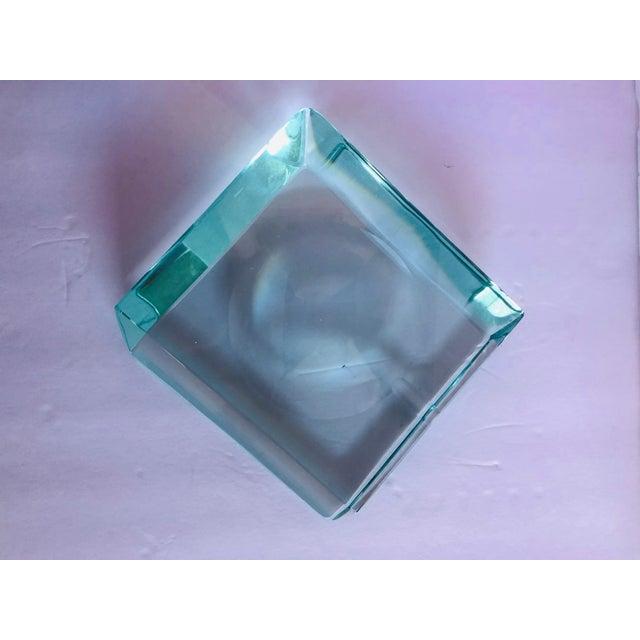 Beveled Glass Ashtray by Fontana Arte For Sale - Image 11 of 12