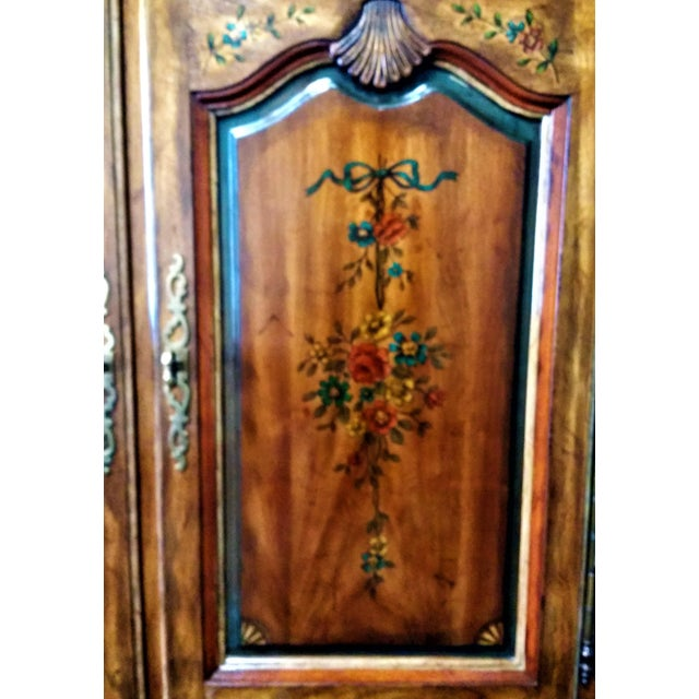 Wood Mid 20th Century Drexel Heritage Armoire For Sale - Image 7 of 11