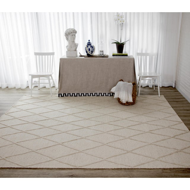 Erin Gates by Momeni Langdon Spring Beige Hand Woven Wool Area Rug - 5′ × 8′ For Sale In Atlanta - Image 6 of 7