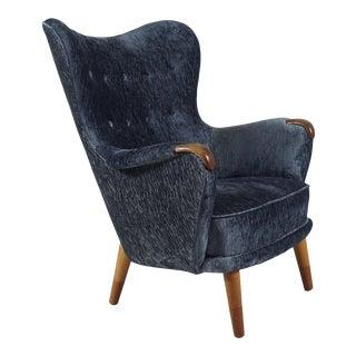 1950s Danish Modern Armchair by Arne Hovmand Olsen For Sale
