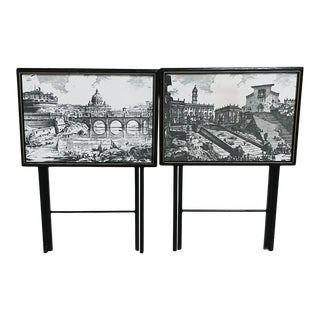 1960s Artex Piransi Folding Tray Tables - a Pair For Sale