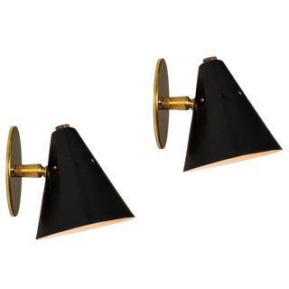 1950s Italian Sconces in the Manner of Arteluce - a Pair For Sale