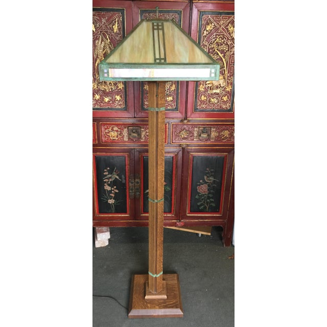 Arts Crafts Floor Lamp by Warren Hile For Sale - Image 11 of 11