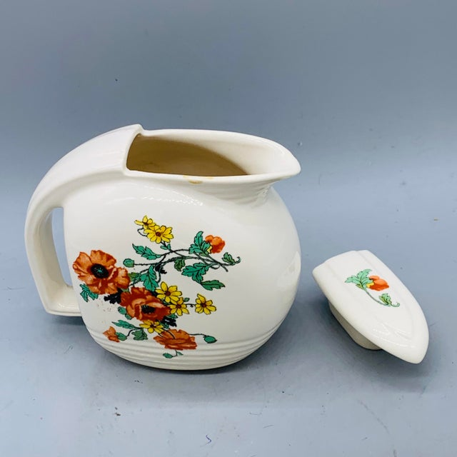 1940s Viktor Schreckengost Designed Floral Jiffy Ware Pitcher For Sale - Image 11 of 13