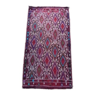 Small Traditional Patterned Kilim 1′8″ × 3′ For Sale