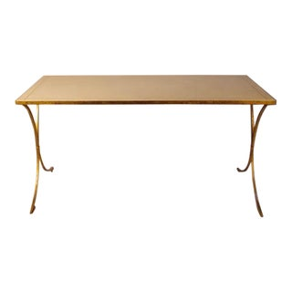 French Gilt Leather Top Desk