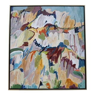 """""""From the Ground Up"""" Abstract Landscape Painting by Laurie MacMillan, Framed For Sale"""