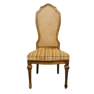 Late 20th Century Vintage Hibriten Furniture Italian Neoclassical Style Dining Chair For Sale