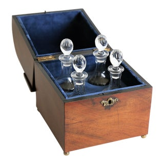 Antique Georgian Cased Liquor Decanter Cordial Set For Sale