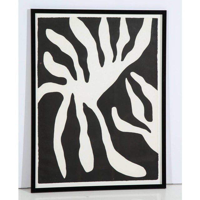 1960s 1960s Abstract Scree Print of Leaf Form by William Turnbul For Sale - Image 5 of 8