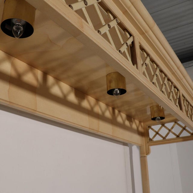Henredon Lattice Canopy Bed For Sale - Image 10 of 13