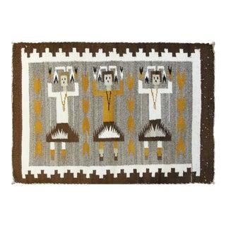 "Navajo Three Figure Yei Rug-1'9"" X 2'4"" For Sale"