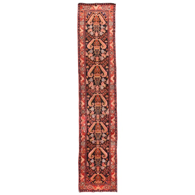 Hand Knotted Persian Hamedan Wool For Sale - Image 4 of 4