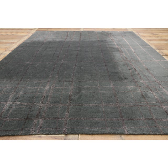 Textile Vintage Tibetan Abstract Expressionism Rug - 7'10 X 10'9 For Sale - Image 7 of 10