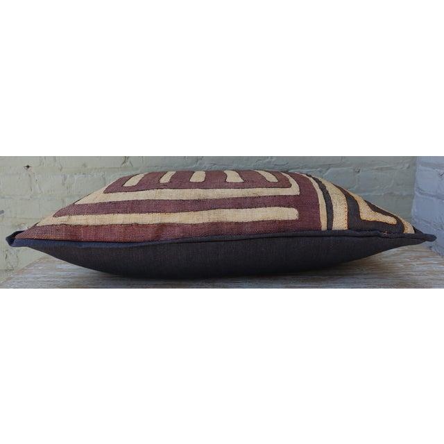 Fabric Large Rectangular African Kuba Cloth Pillow For Sale - Image 7 of 9